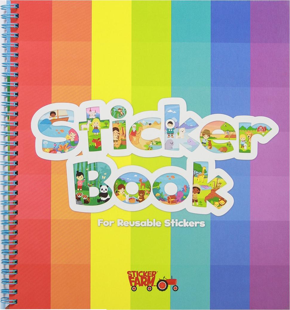 Original Sticker Book Rainbow Classic Soft Cover Sticker Book Puffy Stickers Pocket Stickers
