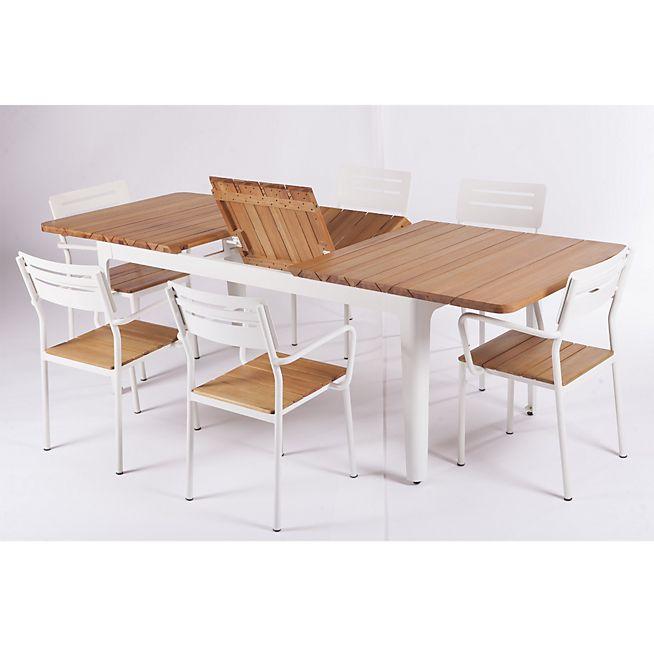 Loana Table de jardin extensible en eucalyptus 180/240cm ...
