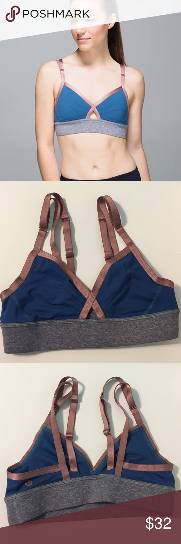 Lululemon If You're Lucky Bra Cute Lululemon bra worn once! Dot confirmed size 6. Just doesn't work for me while I'm breastfeeding and need to find a different Lulu bra! lululemon athletica Intimates & Sleepwear Bras