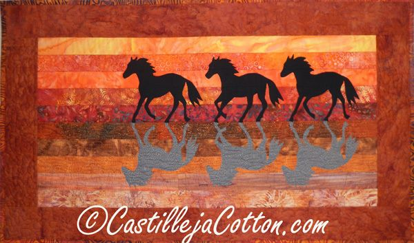 Horses at Sunset Wall Quilt, C$125.00