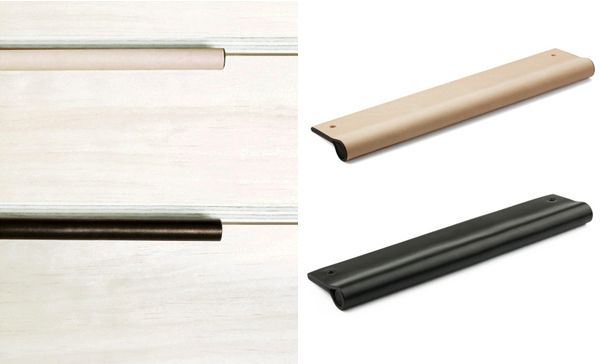 Mademeasure Leather Drawer Pulls Kitchen Handles Joinery Details