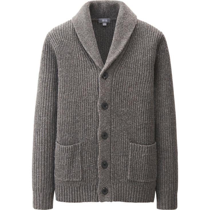MEN HEAVY GAUGE SHAWL COLLAR CARDIGAN | UNIQLO | Garments | Pinterest