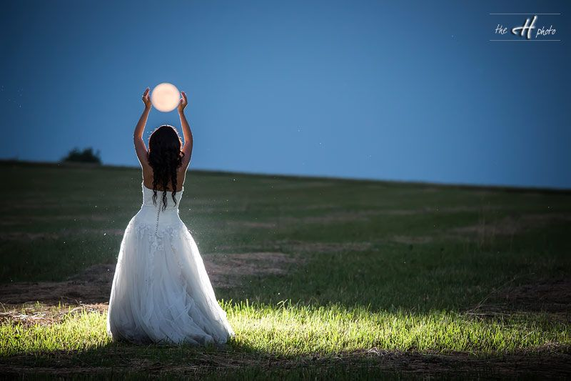 Bride Catching The Moon