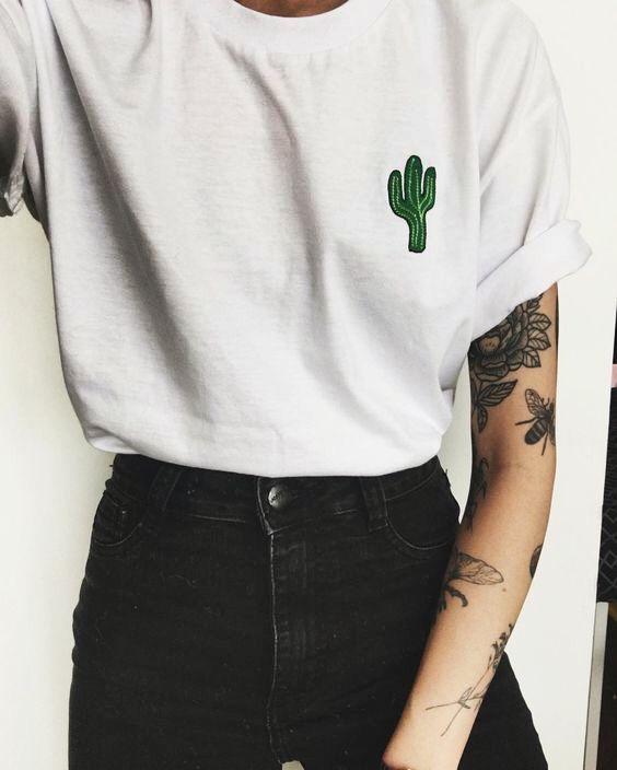 cactus shirt   inked   Pinterest   Bordado, Ropa y Tatuajes