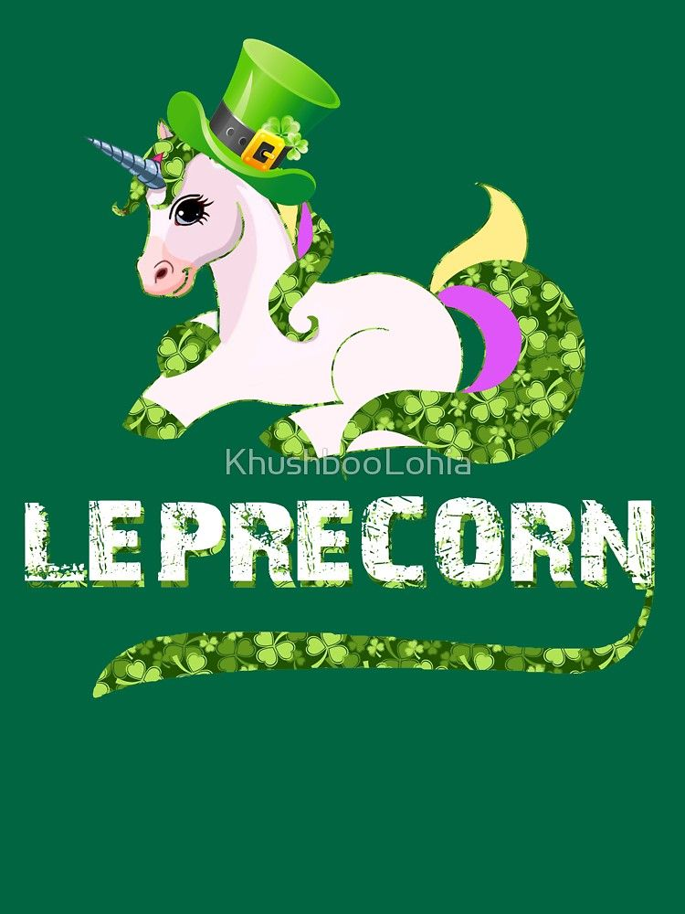 4b183dbd Funny Leprecorn T-Shirt, St Patricks Day Leprechaun Unicorn Gift by  KhushbooLohia