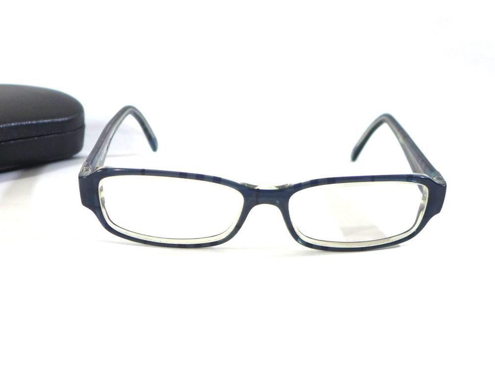 Burberry Safilo Eyeglasses Frames Glasses B8446/U 53-15-140 Blue