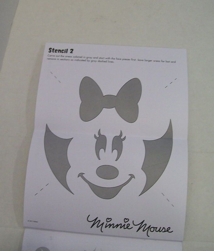 Minnie Mouse Halloween Stencils Minnie Mouse Pumpkin Stencil Witch Pumpkin Stencil