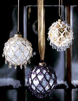 Beaded Ornaments (Download Tutorial) @Judith Zissman de Munck Nieusma and @Kat Ellis Nieusma :)