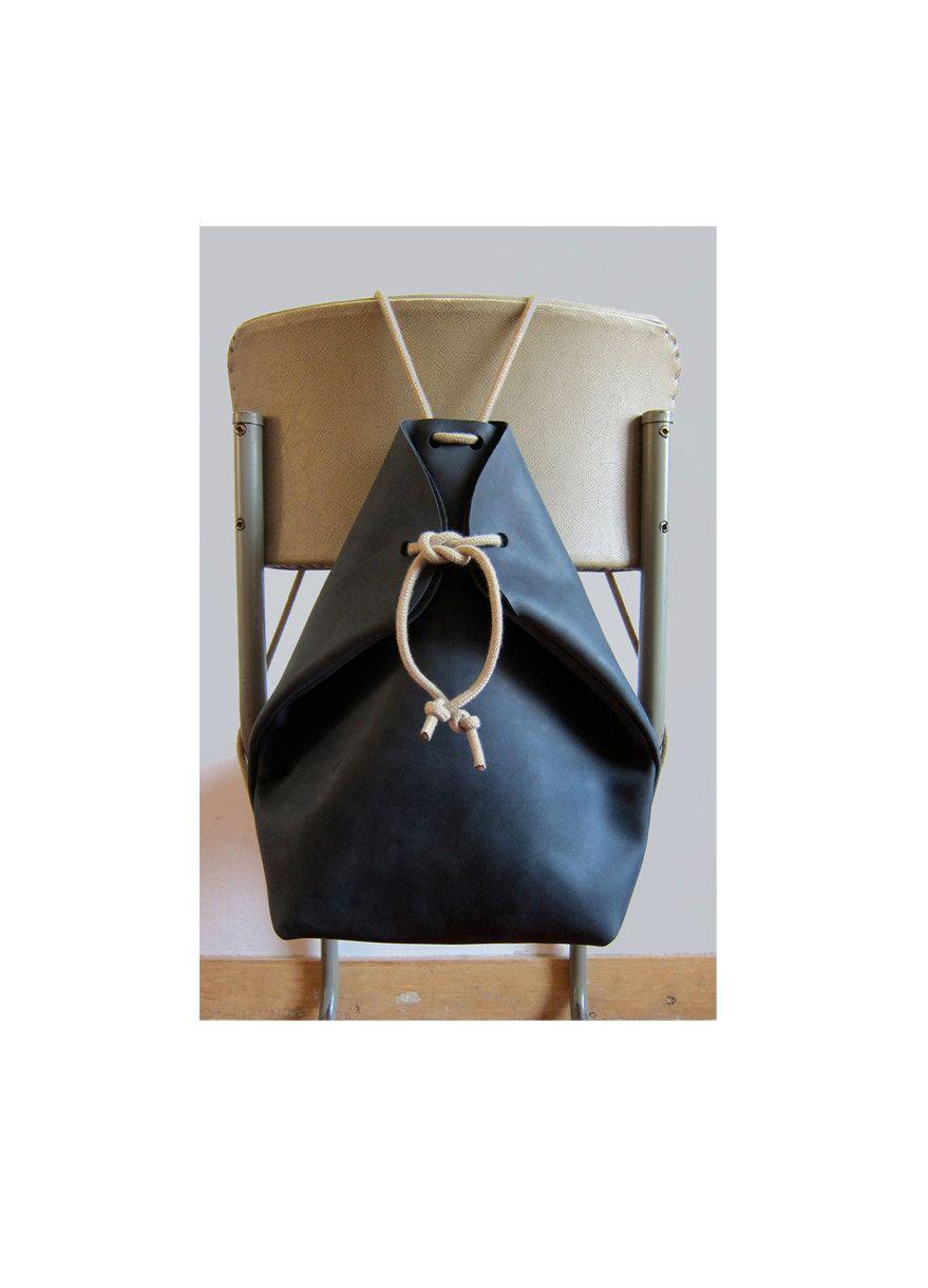 minimal rucksack charcoal black by chrisvanveghel on Etsy, €265.00