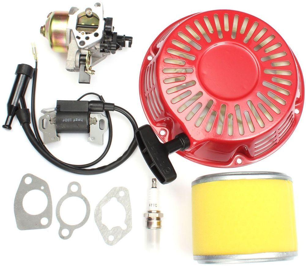 Carburetor Recoil Filter Ignition Coil Plug Kit For Honda