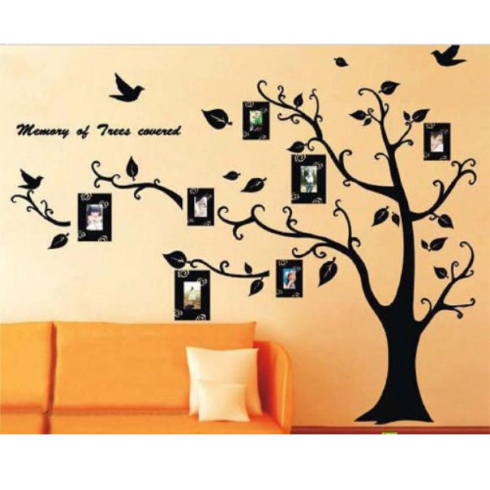 Removable Tree / Photo frame wall stickers. Possibly in baby room or ...