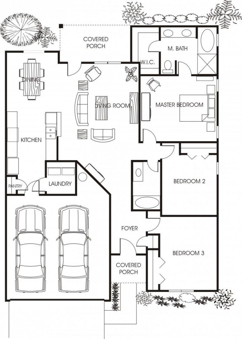 minimalist small house floor plans for apartment beautiful small house floor plans young family house - Family House Plans