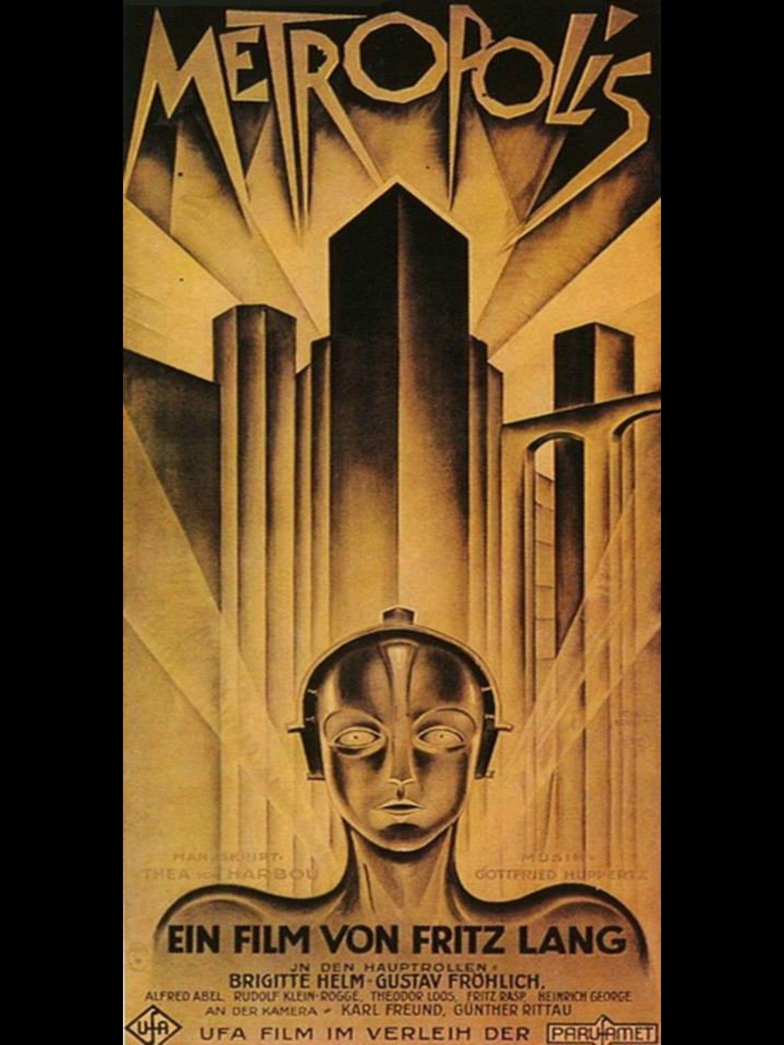 Metropolis Movie Posters Vintage Metropolis Poster Bauhaus Art