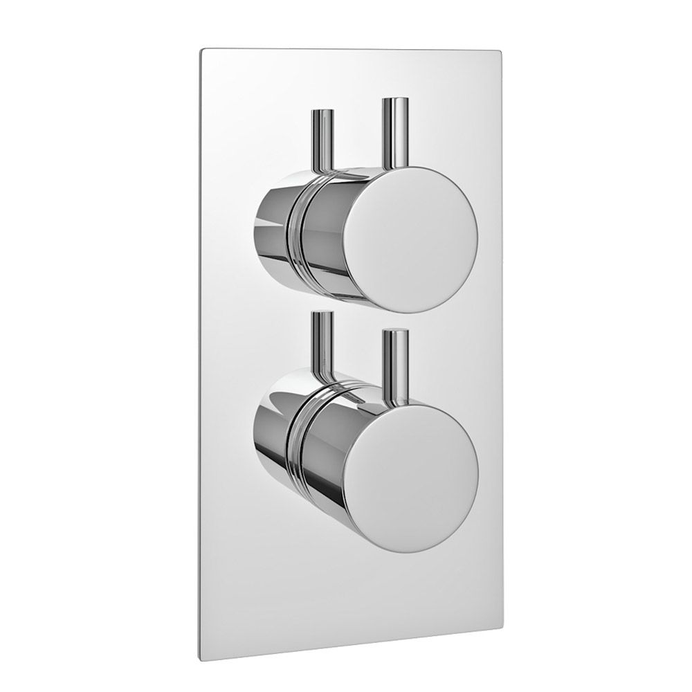cruze twin round concealed shower valve chrome - Shower Valves