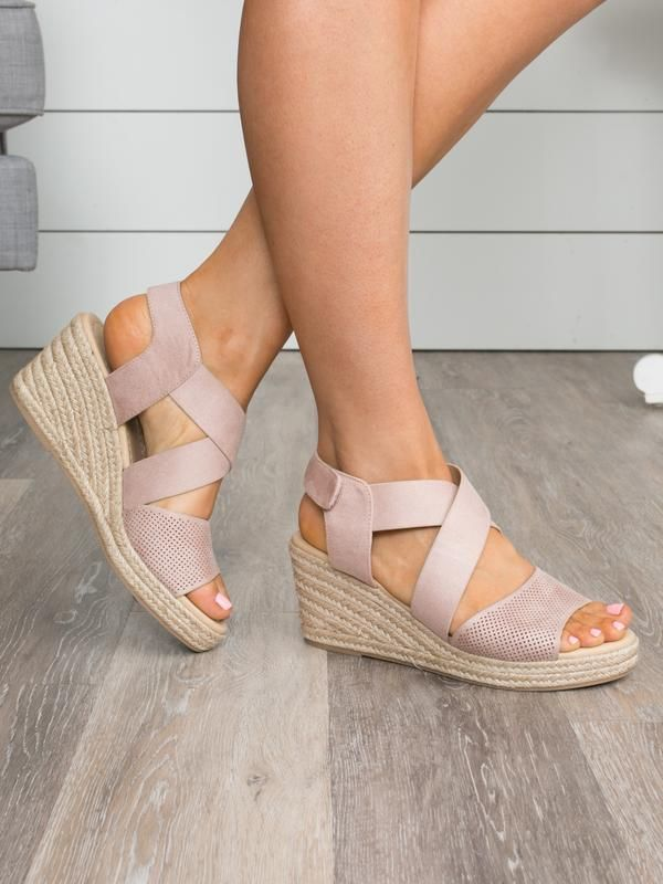 The Charlotte Wedge  Blush is part of Heel sandals outfit, Womens shoes wedges, Sandals outfit, Shoes booties, Women shoes, Casual shoes women - With a beautiful hue, comfy construction, and an espadrille wedge, these stunners are oneofakind  Perfect for the woman on the go who still wants to show her trendy style, these are the ideal wedge for everyday wear! Brand City Classified Grip Tape Closure Suede Upper Man Made Sole Espadrille Wedge Runs True To Size 3  Heel Height
