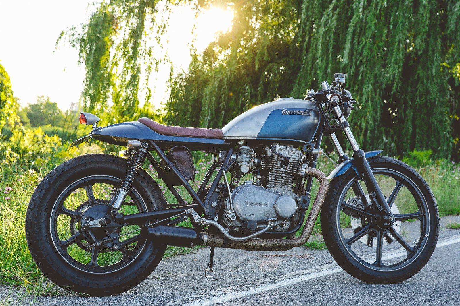 The Curated Moto Marketplace Rocker Co Custom Cafe Racer Kawasaki Cafe Racer [ 1066 x 1600 Pixel ]