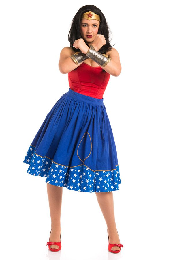 Go Vintage Geek Chic With Superhero Circle Skirts  Nerdy Dresses -4803