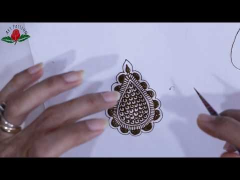 Mehndi Class For Beginners Different Gulf Style Leaves Tutorial