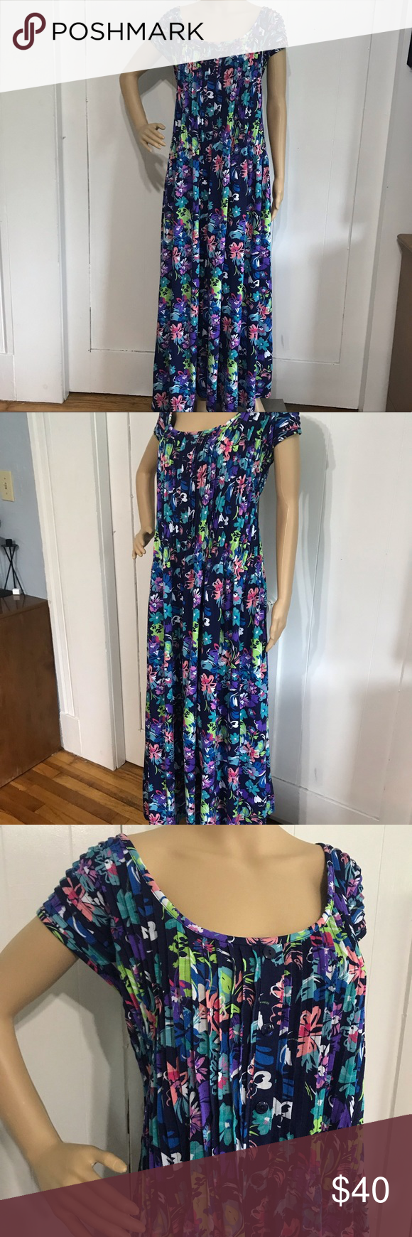 Woman Within Blue Floral Maxi Dress 5x Floral Maxi Dress Blue Floral Maxi Dress Floral Maxi [ 1740 x 580 Pixel ]