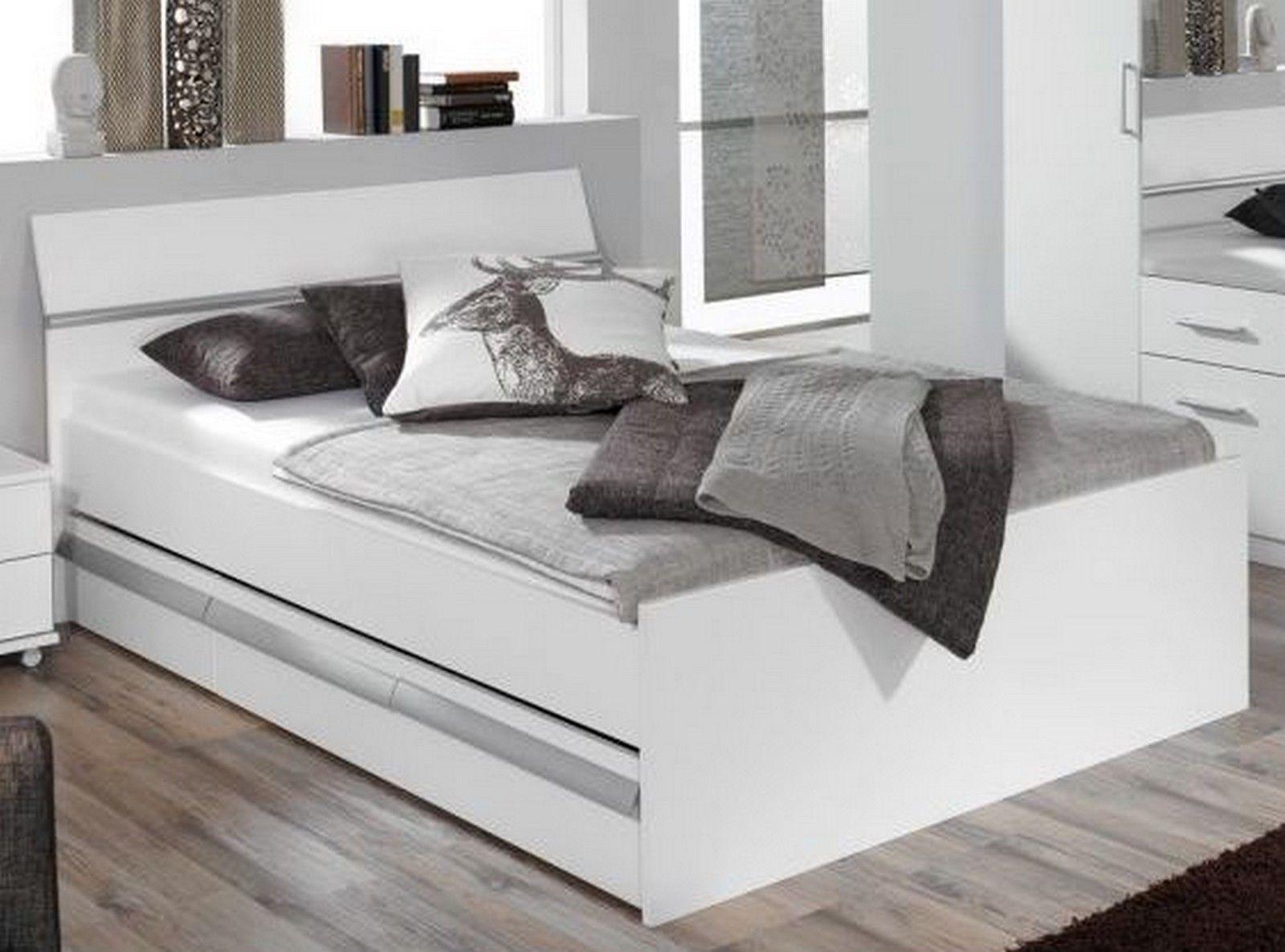 Genial bett weiß 140x200 mit bettkasten Bett mit