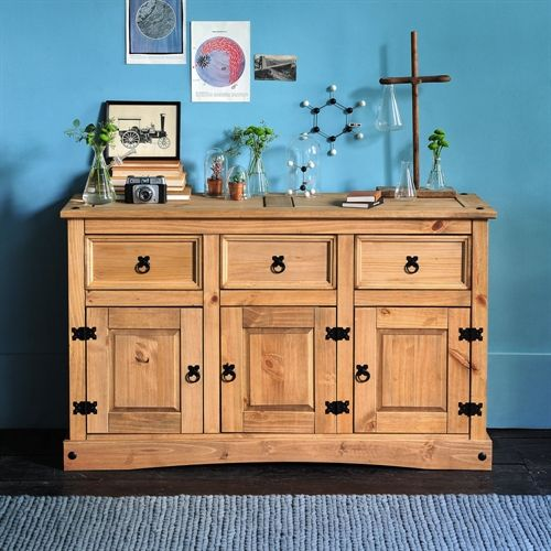 Corona mexican solid pine large sideboard