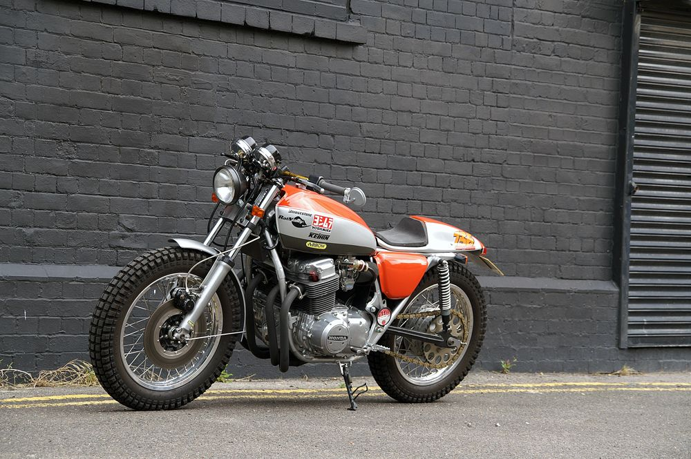 Vehicle Steve Lowes Honda CB750 K7 Urban Scrambler