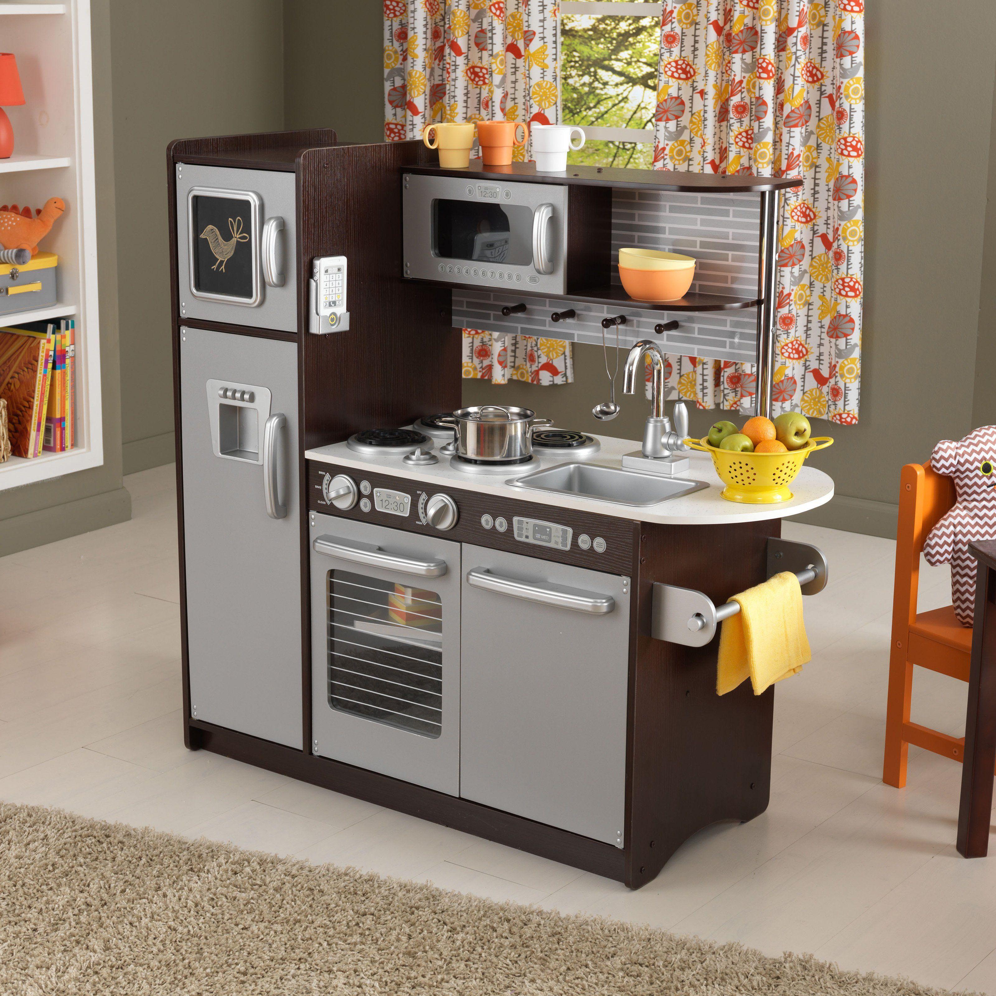 KidKraft Uptown Espresso Play Kitchen Products