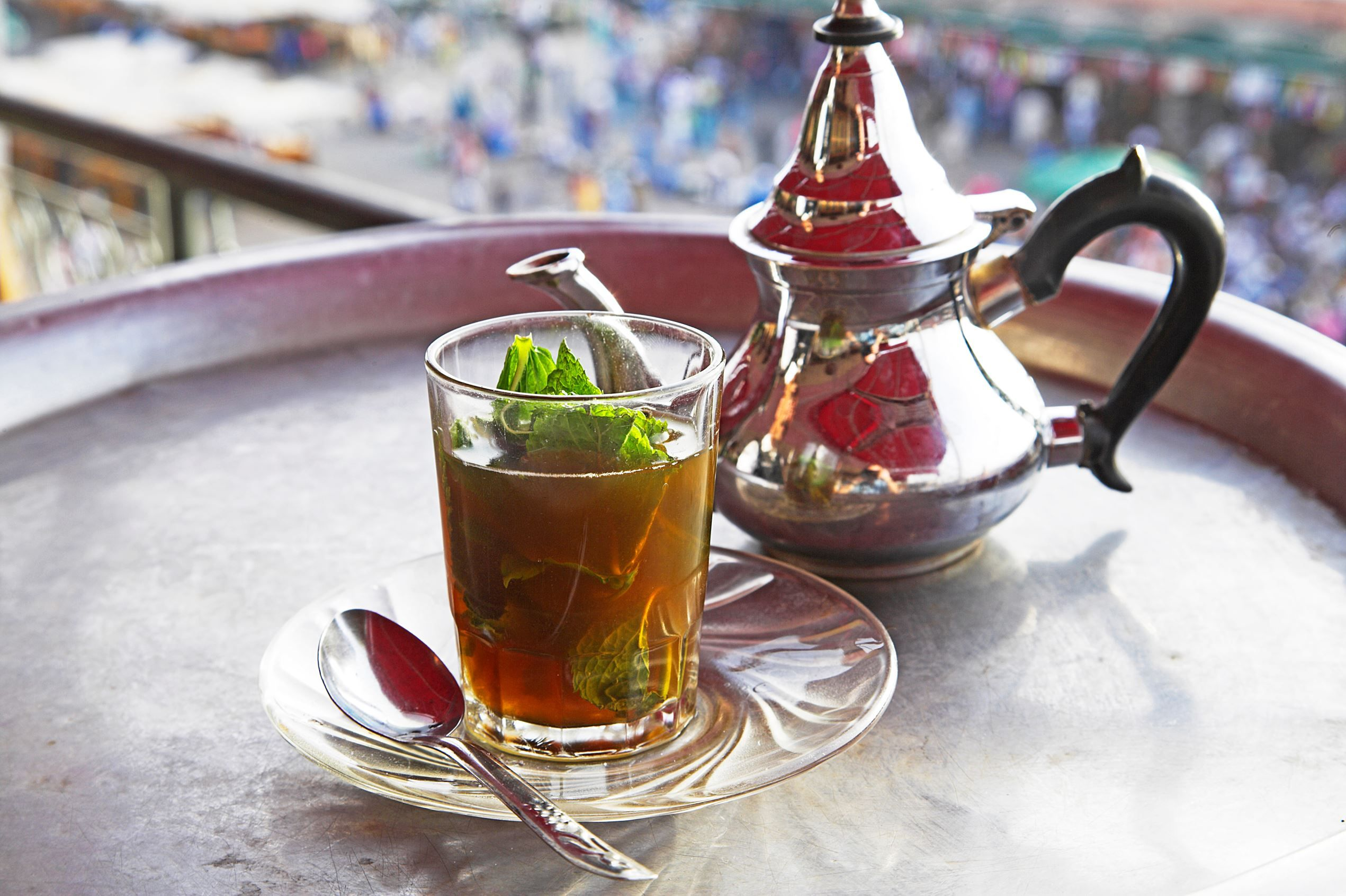 Maghreb mint tea Known to have introduced green tea to the