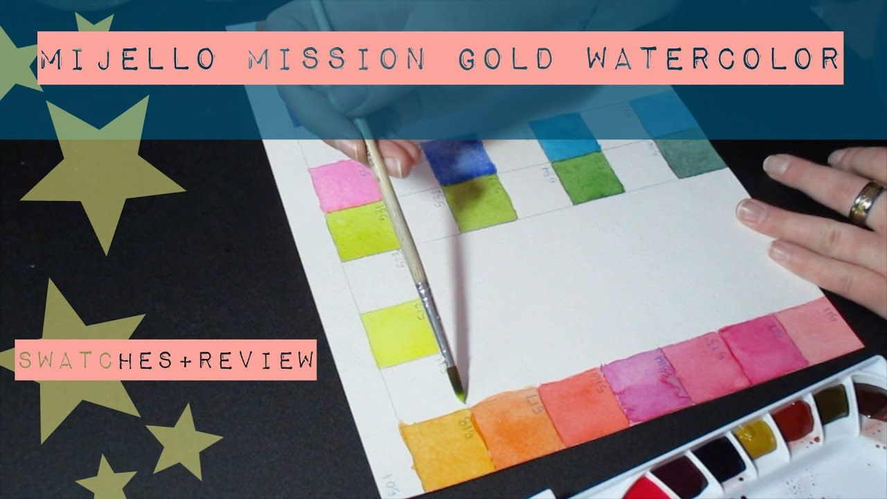 Unboxing Mijello Mission Gold Watercolors Swatches Palette Set