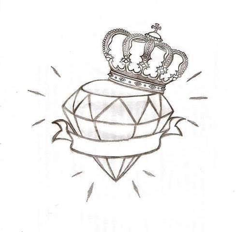 Sugestoes Tatuagem De Diamante Diamante Tatuagem Desenho