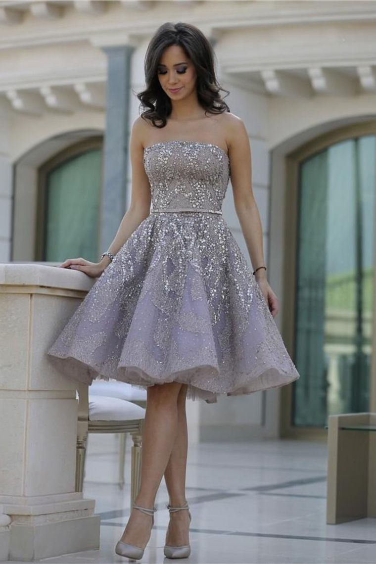 strapless homecoming dresses a line lace with beading knee
