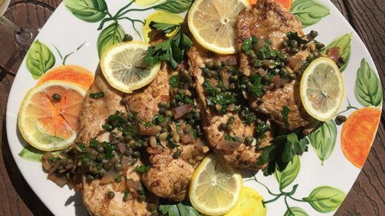Recipe: Chicken Piccata with Grüner Veltliner