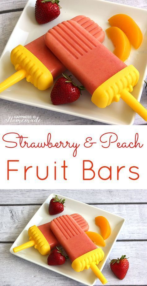 & Peach Fruit Bar Popsicles  - Chocolate came with ganache -