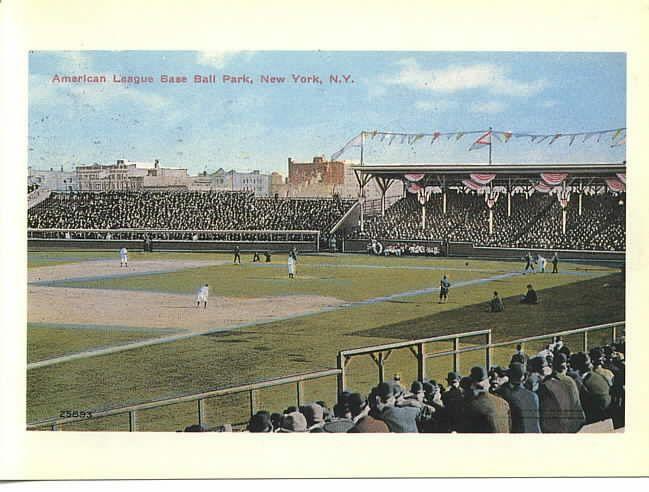 Hilltop Park New York Highlanders Yankees Giants Baseball Stadium Postcard Baseball Stadium Ballparks Baseball Park