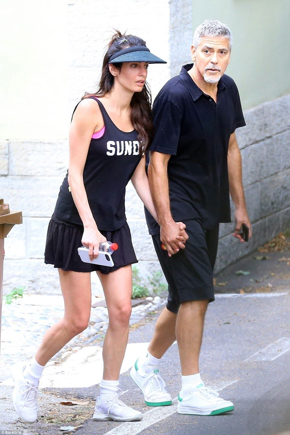 Amal Clooney and dad George take time away from the twins in Italy
