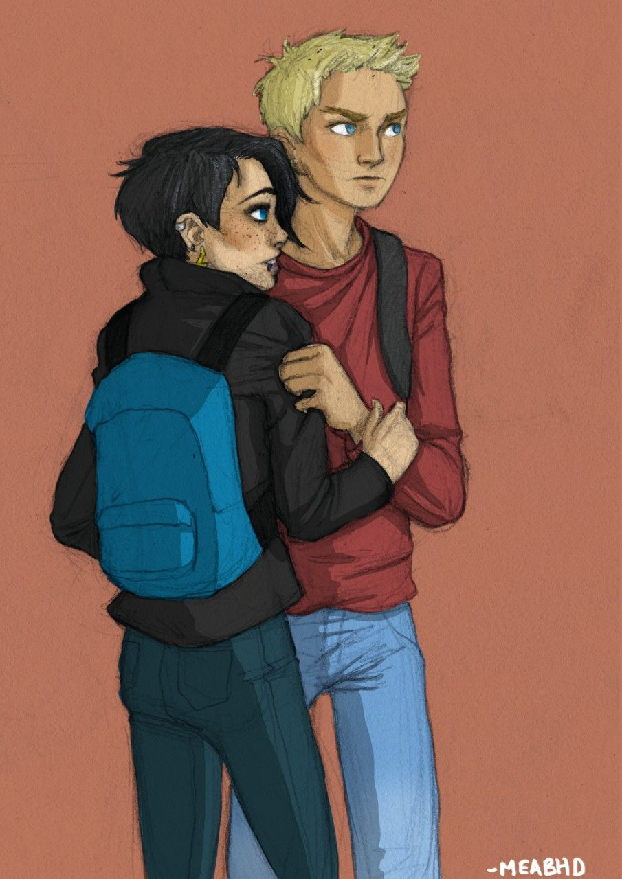So Thaluke is actually my biggest ship after Percabeth but I never draw them because pain… So this is them on the run before all the crap happened to them.