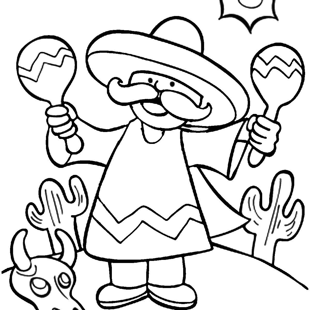 5 De Mayo Coloring Pages