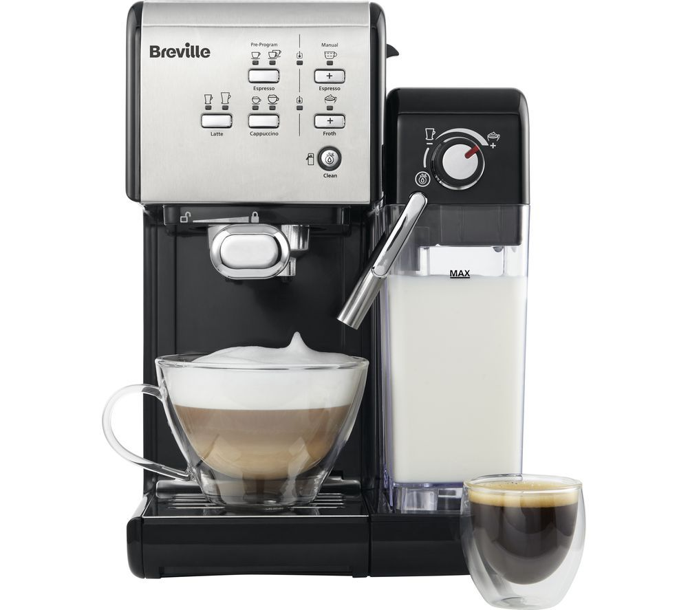 Breville One Touch Vcf107 Coffee Machine Black Chrome In 2020 Pod Coffee Machine Coffee Machine Breville