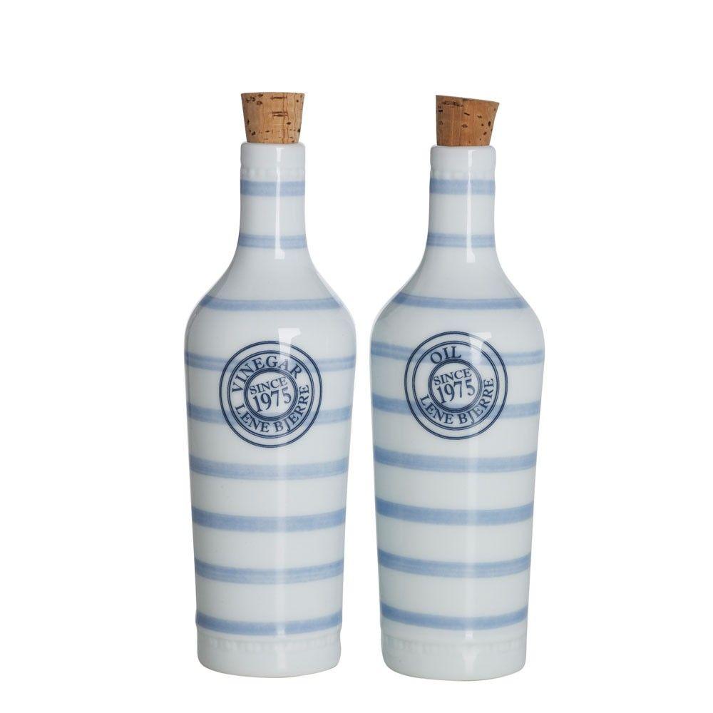 Obsessed with these Lene Bjerre Molly Striped Oil & Vinegar Bottles ...