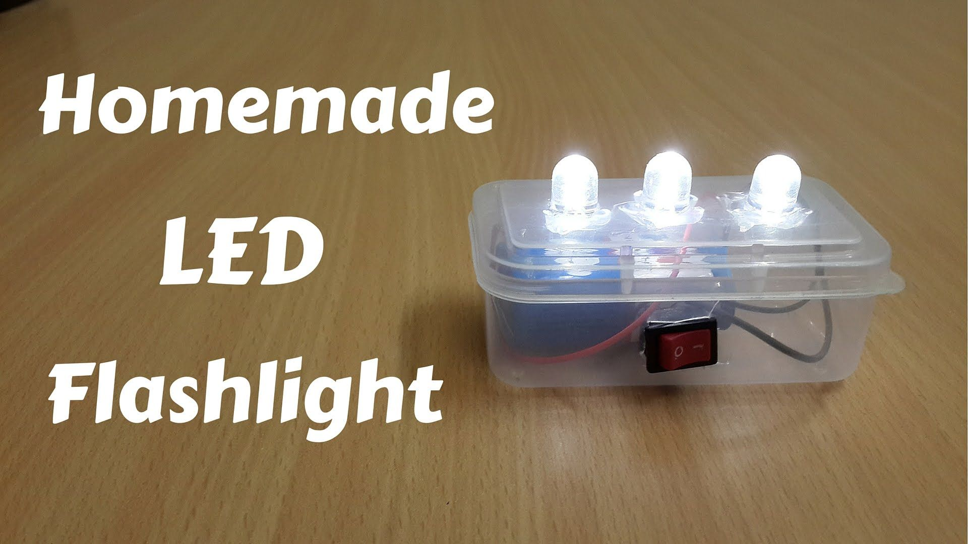 How To Make A Homemade Mini Led Flashlight Diy Diyflashlight Produce Candle Circuit Made From While Using 4 Aa Batteries