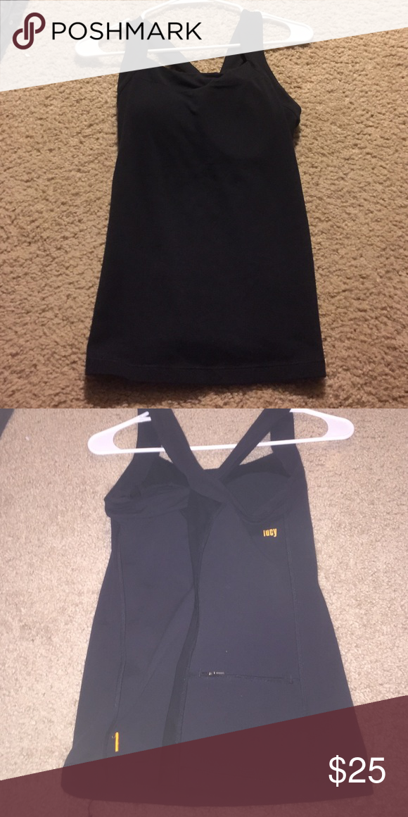 LUCY workout top Never worn, padded workout tank Lucy Tops Tank Tops