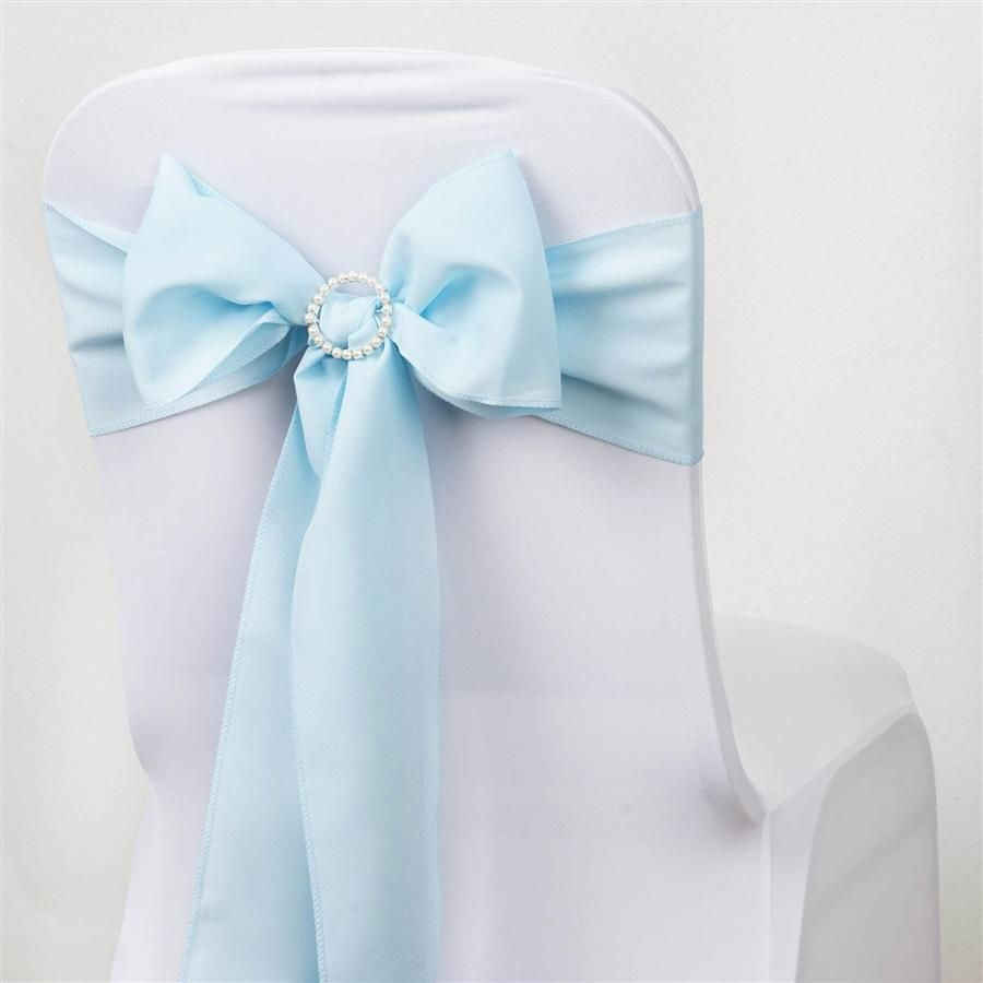 5 Pcs Light Blue Polyester Chair Sashes In 2018 Products