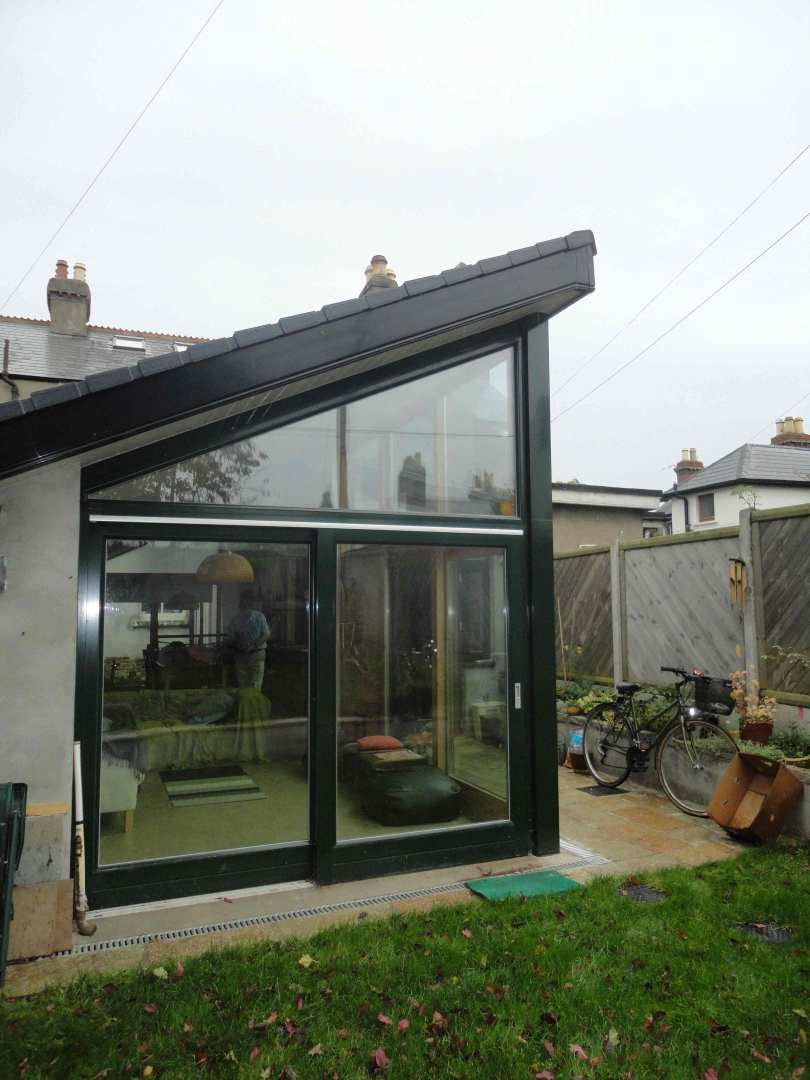 how to build a pitched roof extension