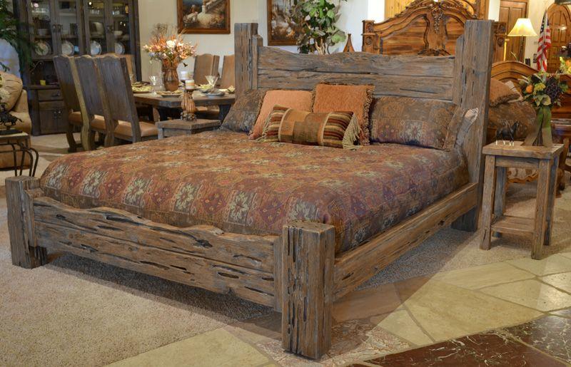 rustic king bed custom western style