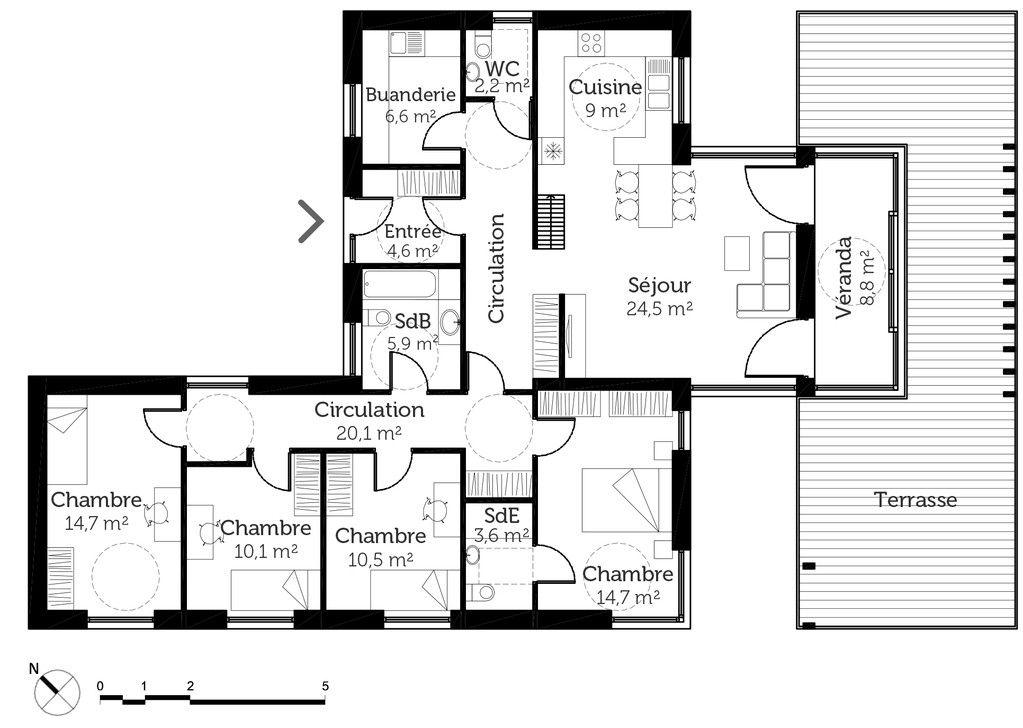 Plan De Maison Maison De Plain Pied 6 Faire 6