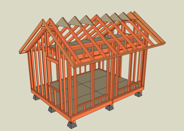Roof Framing Tiny House | house plans , small house , solar house ...