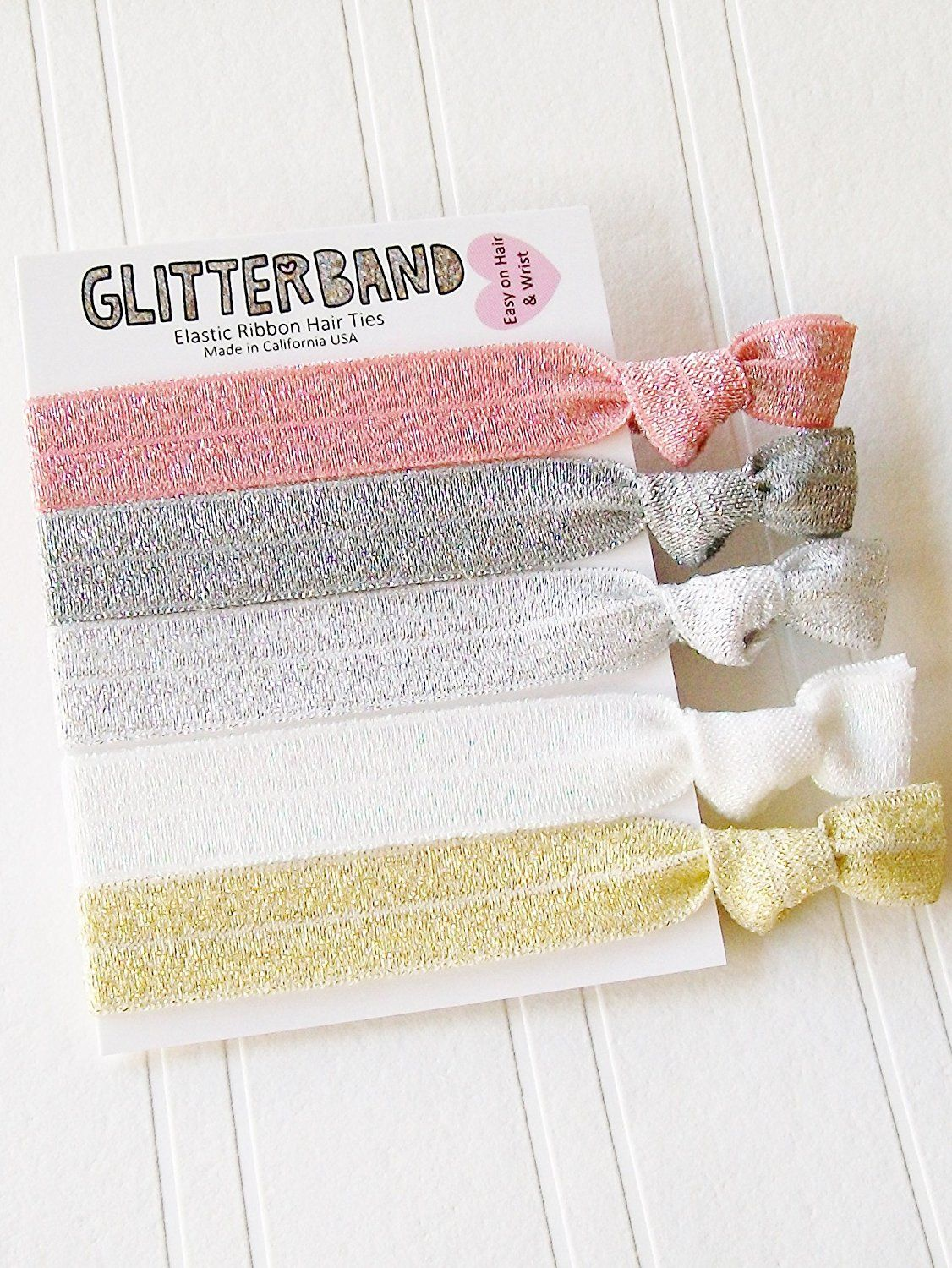 Hair ties sparkle 5 pack by lucky girl hair ties brand