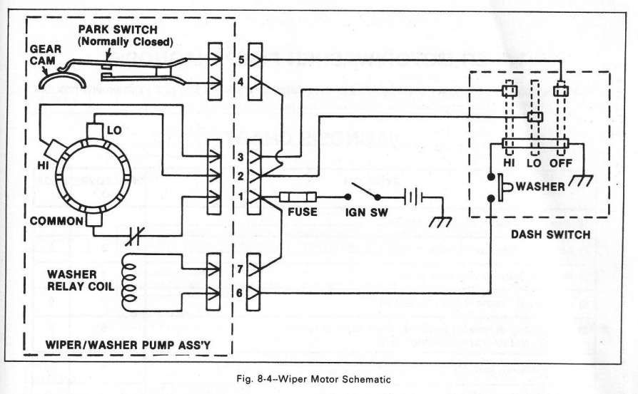 18 57 chevy electric wiper motor wiring diagram  chevy