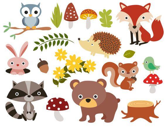 Forest Animals Baby Digital Clipart / Woodland Animals Clip art ...