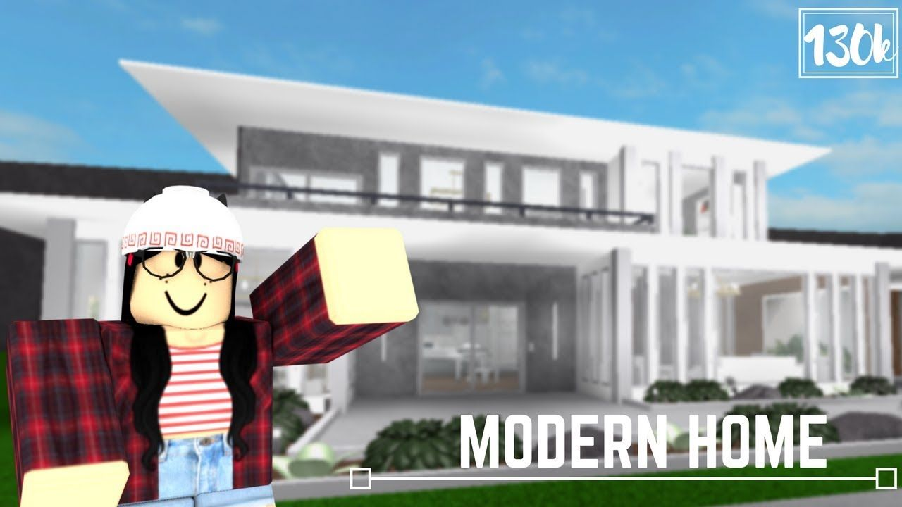 Roblox welcome to bloxburg modern home 130k youtube